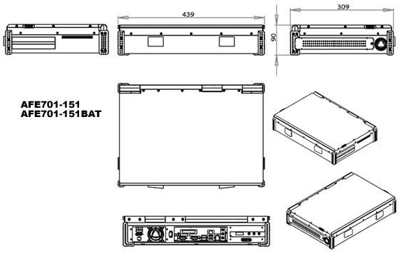 内置功放板驱动两个立体声喇叭 电源  19v电源适配器输入 电池待机